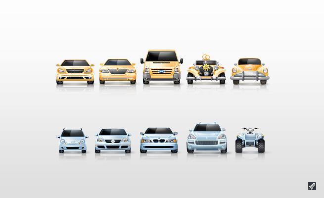 Автомобильные иконки для автомобильного сайта