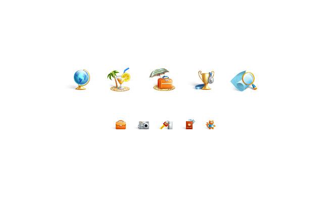 Иконки для сайта Аврора Интур - бюро путешествий
