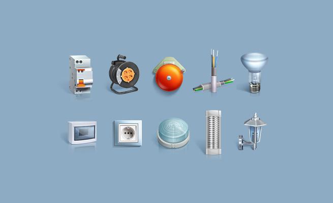 Разработка иконок для сайта Электрокрафт