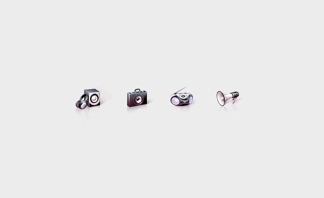 Иконки для сайта крупного дистрибутора высококачественной аудио-видео техники.